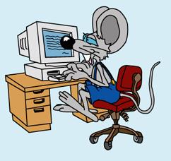 Мышь за копьютером